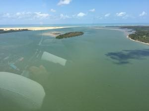 Foz do Rio São Francisco localizada entre os estados de Sergipe e Alagoas.