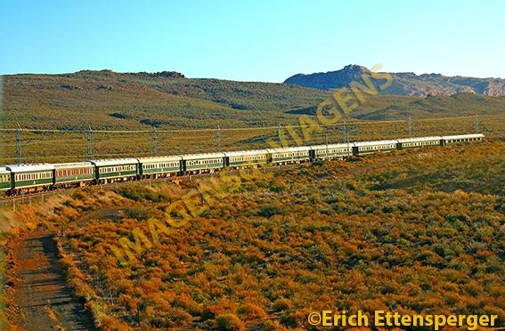 Atravessando a África do Sul de trem/Mit dem Zug durch Südafrika/By train through South Africa