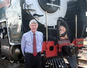 Sr. Rohan Vos, proprietário da Companhia Rovos Rail