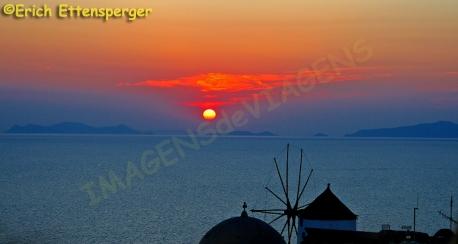 Famoso por do sol em Santorini