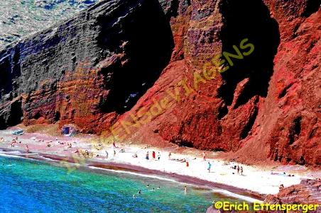 Praia Vermelha em Mikonos