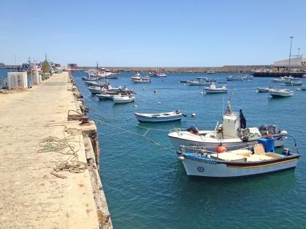 Os barcos dos pescadores