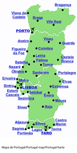 Mapa retirado do site Lisboa Coast Tours Services