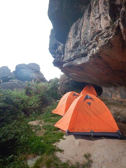 Nosso acampamento.