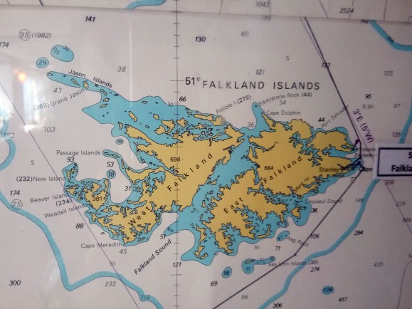 Mapa das Ilhas Falklands