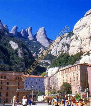 Mosteiro de Montserrat, próximo à cidade de Barcelona, Espanha