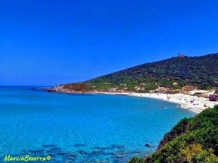 Praia da zona de L'Ile Rousse / Strand von L'Ile Rousse / beach area of L'Ile Rousse