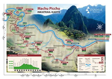 We get this map from: http://peru.de/trekking/inka-trail/inka-trail.html