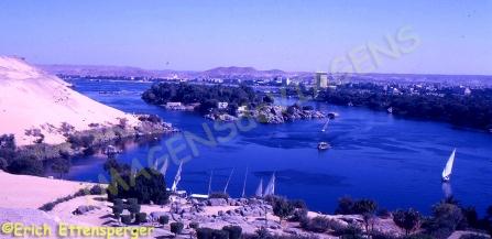 Ilhas de Rio em Assuã / Flußinseln bei Assuan / River Islands at Aswan