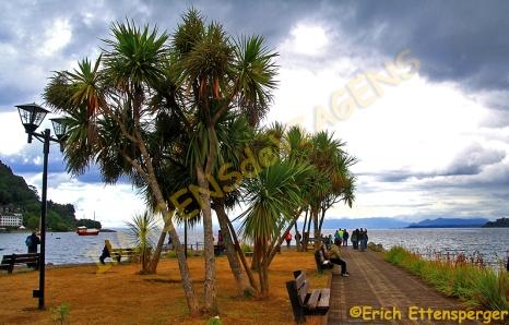 Orla do Lago Lalanquihue em Puerto Varas / Uferpromenade am Lago Lalanquihue in Puerto Varas / Waterfront at Lake Llanquihue in Puerto Varas