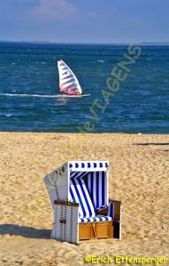 a típica cadeira de praia