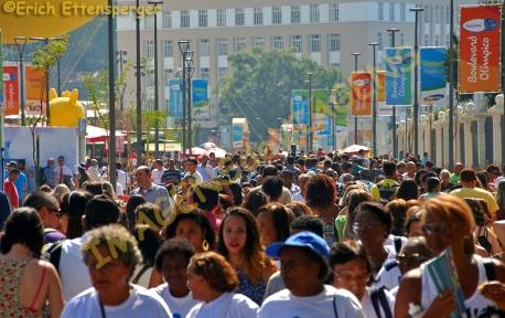 Multidão durante as Olimpíadas 2016, Rio de Janeiro, Brasil/Crowd während der Olympischen Spiele 2016 in Rio de Janeiro, Brasilien/Crowd during the 2016 Olympics, Rio de Janeiro, Brazil