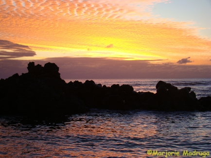 por do sol na ilha / Sonnenuntergang auf der Insel / Sunset on the island