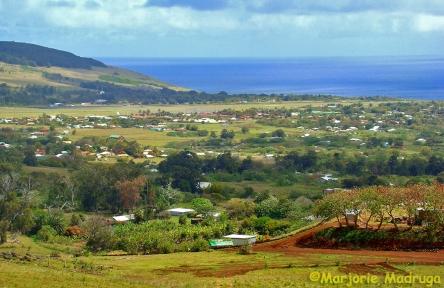 Vista de Hanga Roa / Blick aufHanga Roa / View of Hanga Roa