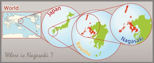 Location of Nagasaki. Source: http://visit-nagasaki.com/AboutNagasaki/