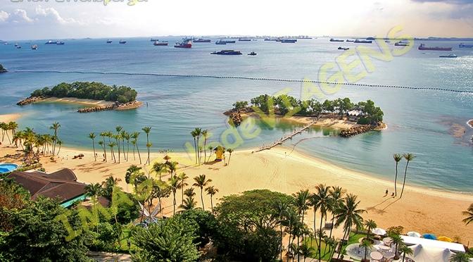 "Sentosa, a ilha da diversão de Cingapura/Sentosa – die Insel ""des Spasses"" in Singapur/Sentosa – the island of ""fun"" in Singapore"